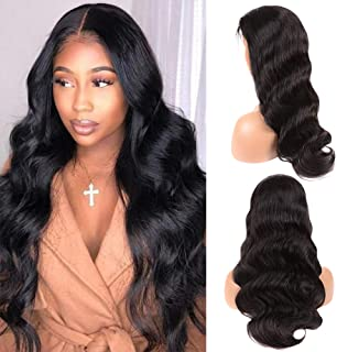 Vogeen Lace Front Human Wigs for Black Women with Baby Hair 360 Lace Frontal Wig 150% Density Brazilian Virgin 100% Human Hair Wigs Body Wave Natural Color 22 inch
