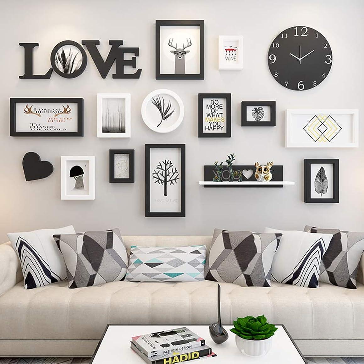 平日変換リットルリビング ルーム 写真の壁の装飾,パンチ-無料 ソファ 背景壁,フォトフレーム 吊り壁の組み合わせ C