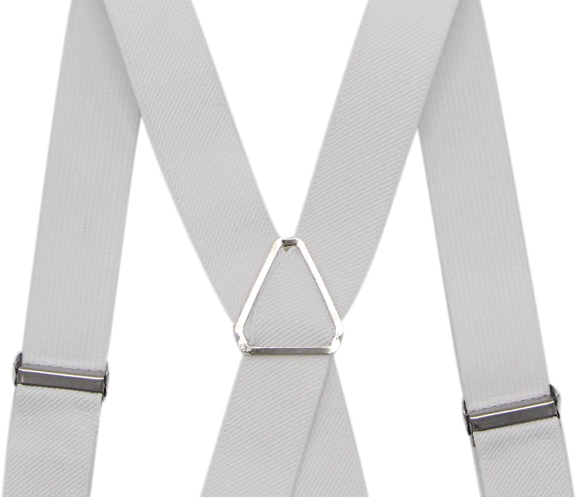 JAIFEI Mens X Back Suspenders /& Bowtie Set Perfect For Weddings /& Formal Events