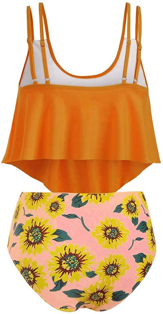 Amober Bikini for Women Vintage Swimsuits High Waisted Bikinis Bathing Suits Retro Halter Underwired Top