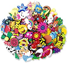 100 Pcs Different Shape Shoe Charms for Croc Shoes & Wristband Bracelet Gift for Kids and Teens