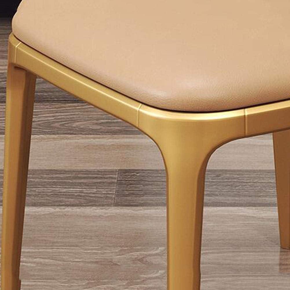 WYYY chaises Chaise De Salle À Manger Siège En PU Chaise De Table Armature En Métal Salon Chaise De Restaurant De Bureau Antidérapant Durable fort (Color : Brown) Light Tan
