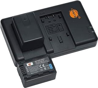 バッテリーパック VBK180 互換バッテリー 2個 + 充電器 セット (大容量 2500mAh USB 急速充電) Panasonic SDR-H100 H101 H85 S50 S70 S71 T70 T71 T76 HC-V10 HC-...