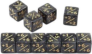 Kuvuiuee 10 pezzi//Set D10 10 Opaque Polyhedral dadi da gioco per giochi di carte da tavolo Polyhedral Ornamented Dice Set per giochi di ruolo gioco da tavolo per bambini conteggio 20 mm dadi standard