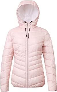 Women's Lightweight Water Resistant Hooded Quilted Poly Padded Puffer Jacket Coat