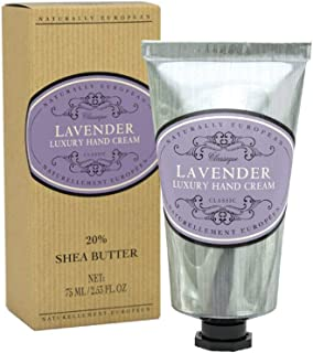 Naturally European Lavender Luxury Hand Cream Boxed 20% Shea Butter 75ml  For Hardworking Hands   Combat Dry Skin   For Al...