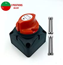 Boat Battery Switch Disconnect,Battery Cut/Shut Off Switches for Marine,12V-48V Battery Isolator Switch 275/1250 Amp Waterproof Master Power Kill Switch for Car RV Boat Truck ATV Vehicles