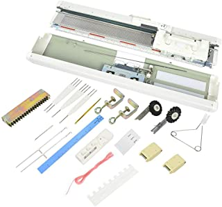 Lecxin Machine à Tricoter électronique, SK155 Kit de Machine à Tricoter Machine à Tricoter électronique à 3 Aiguilles Acce...