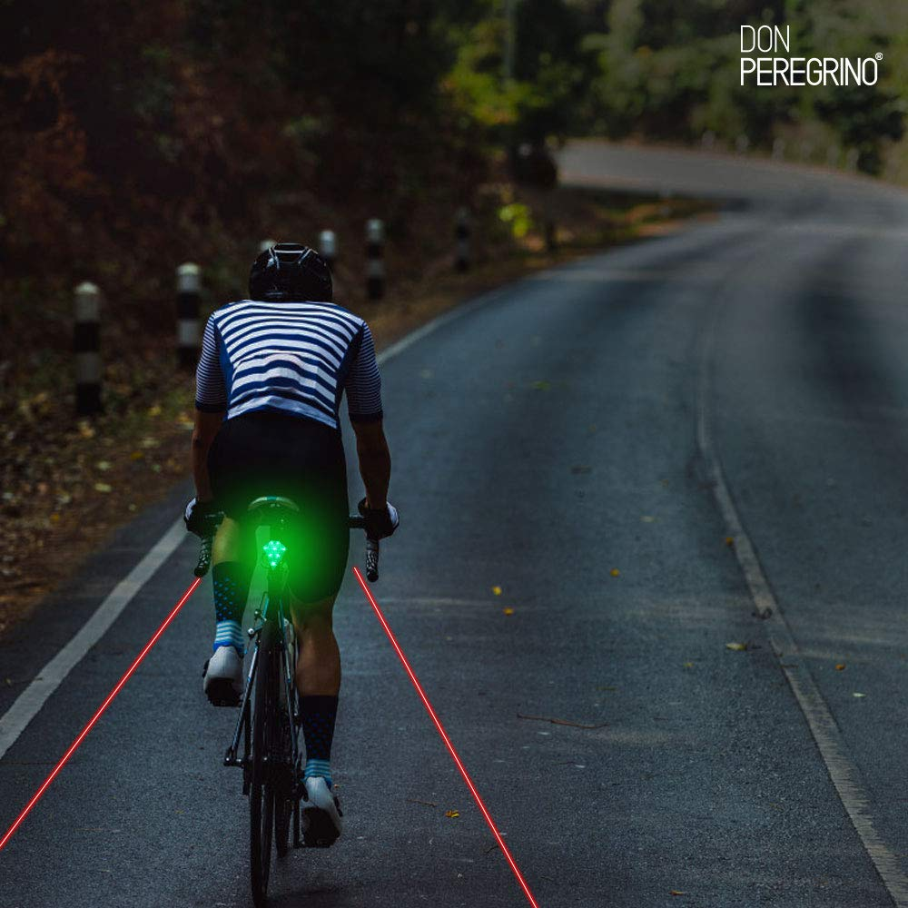 DONPEREGRINO R3 - Led Luz Trasera Bici Potente con Carril Virtual ...