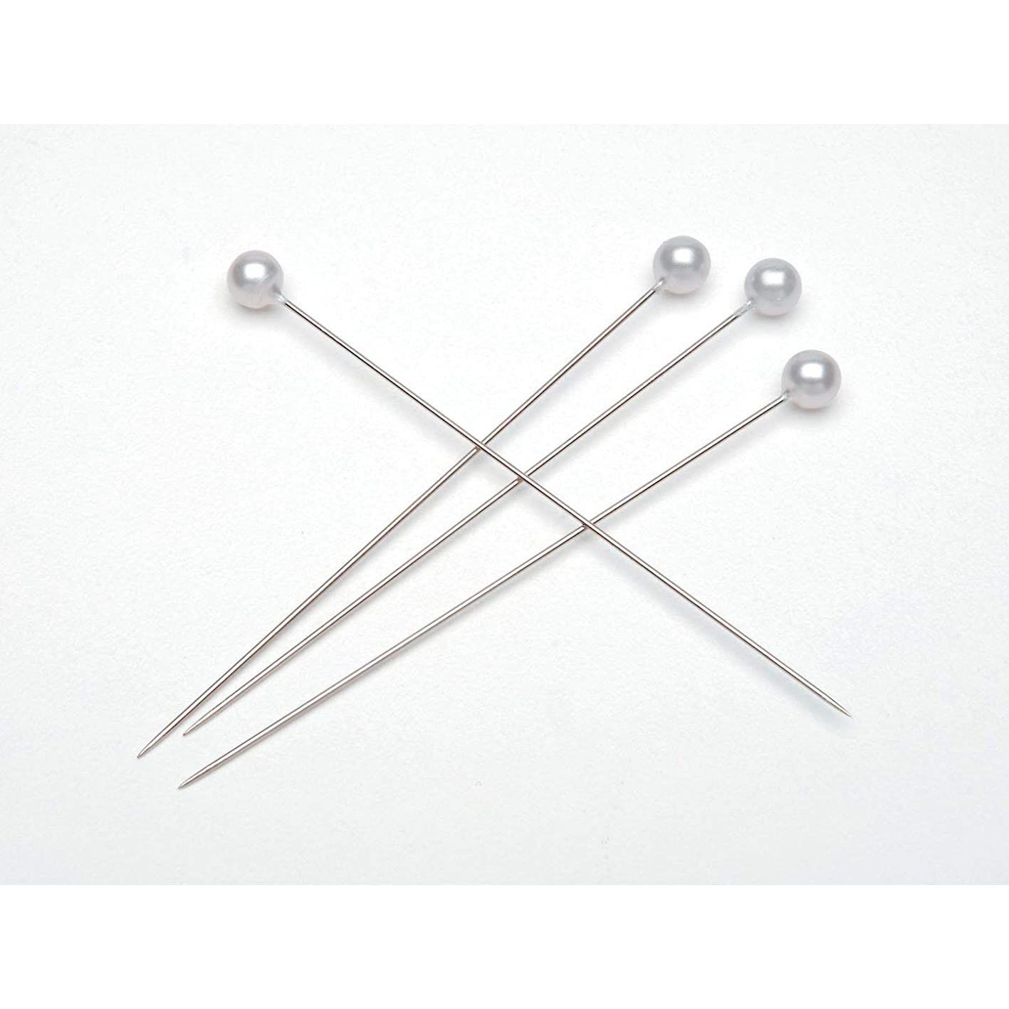 Bulk Buy: Darice DIY Crafts Pearl Flower Pins White 3 inches (144 pieces (3-Pack) 38075 ywltxmkmedd332