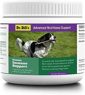 Dr. Bill's Canine Immune Support | Pet Supplement | Supports Innate Immune System | Includes Colostrum, Lactoferrin, Beta Glucan, Vitamin C, CoQ10, Bifidobacterium, and Zinc | 180 Grams