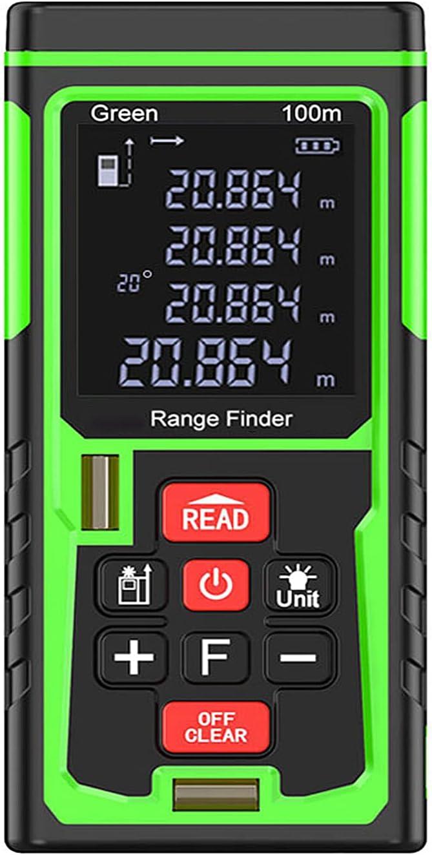 enweQVQ Metro Digital Laser, Metros ± 2.0 Precisión de Medición, Interruptor de Medición Ft/In/M Telémetro Láser Área, Distancia, Longitud, Volumen,100m