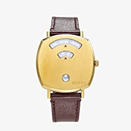 Gold Dial/Brown Leather Strap