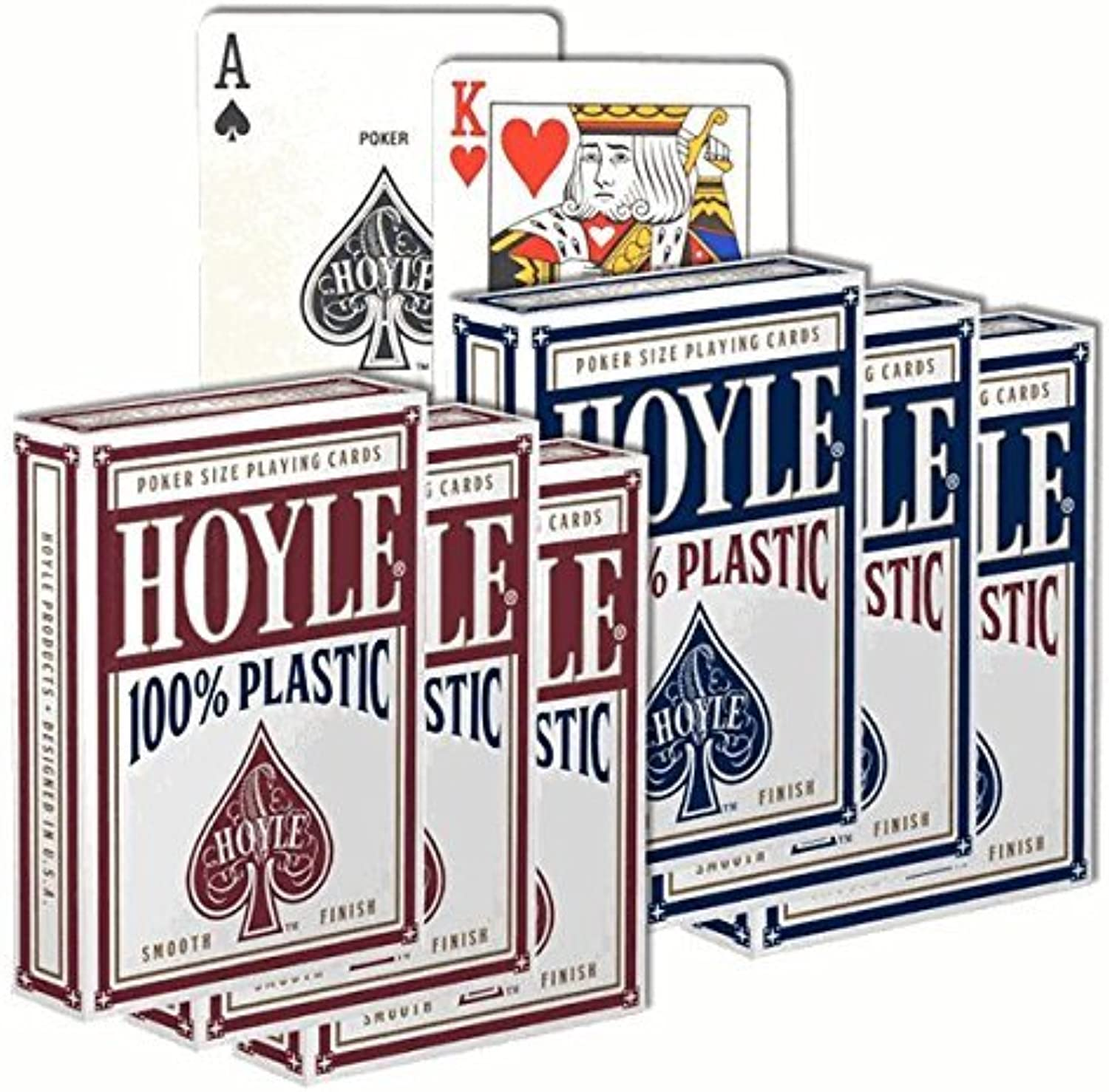 6 Decks of Hoyle 100% Plastic Playing Cards by Hoyle