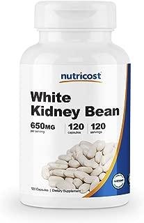 Nutricost White Kidney Beans Capsules 650mg 120 Capsules - Veggie Caps, Gluten Free and Non-GMO
