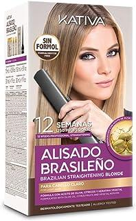KATIVA KIT ALISADO BRASILEÑO CABELLOS RUBIOS - Lo mejor de nuestros alisados para cabellos claros - Alisado en casa para p...