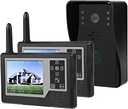 Timbre de Video, Onda electromagnética inalámbrica de 2,4 GHz Pantalla TFT Color de 3,5 Pulgadas Llamadas Manos Libres/int...