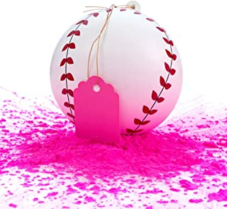 Winsharp Gender Reveal Baseball - Single Balls - Exploding Pink and/or Blue Powder Baseballs - Choose Your Ball Color - Best Idea for Boy or Girl Softball Baby Sex Revealing Party