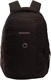 WILDCRAFT. Polyester 35 L Black Laptop Backpack