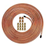 25 Ft. of 1/4 Brake Line Tubing Kit - Muhize Flexible Copper Tube Roll 25 ft 1/4