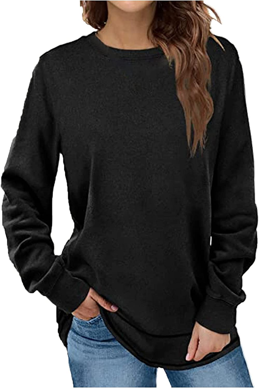 Xiangdanful Women's Ranking TOP12 Long Sleeve Round Neck store Loose Sweatshirt Top