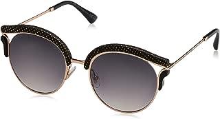 Metal Oval Modified Sunglasses 53 0PSW Gold Copper 9C dark gray gradient lens