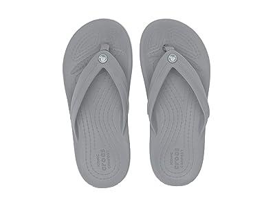 Crocs Kids Crocband Flip GS (Little Kid/Big Kid) (Light Grey) Kids Shoes