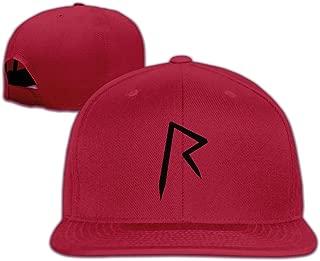 Singer Logo Adjustable Flat Brim Baseball Cap