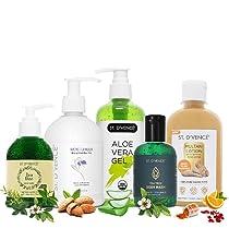 ST. D'VENCE Skin Care Kit For Men & Women, Combo Pack of Body Wash, Mulani Mitti Lotion, Tea Tree Face Wash, Tea Tree Body Wash & Aloe Vera Gel
