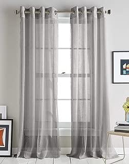 DKNY Modern Soho Stripe Grommet Window Curtain Single Panel