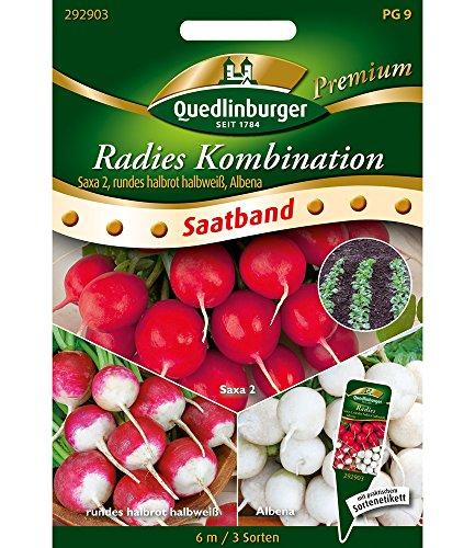"Saatband Radies Kombination\""Saxa 2, rundes halbrot halbweiß, Albena\"",1 Portion"