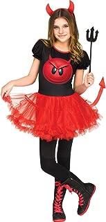 Girls Devil Emoji Movie Halloween Costume