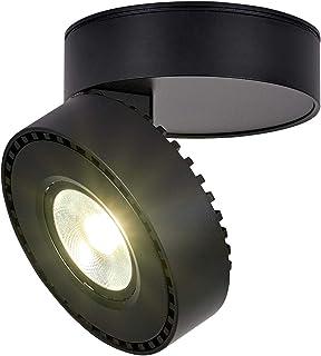Dr.lazy 12W LED Focos para el techo,Focos de pared, Lámpara de techo, Focos de pared, Lámpara de salón, Luz de techo led, Plafón con Focos, IP20, 10X10x6CM (Negro-4000K)