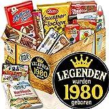 Legenden 1980 + Jahrgang 1980 + Süßigkeiten Box DDR