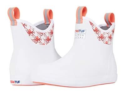 XTRATUF Salmon Sisters Octopus Ankle Deck Boot (White) Women