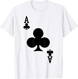Ace of Clubs Playing Card Halloween Costume T-Shirt