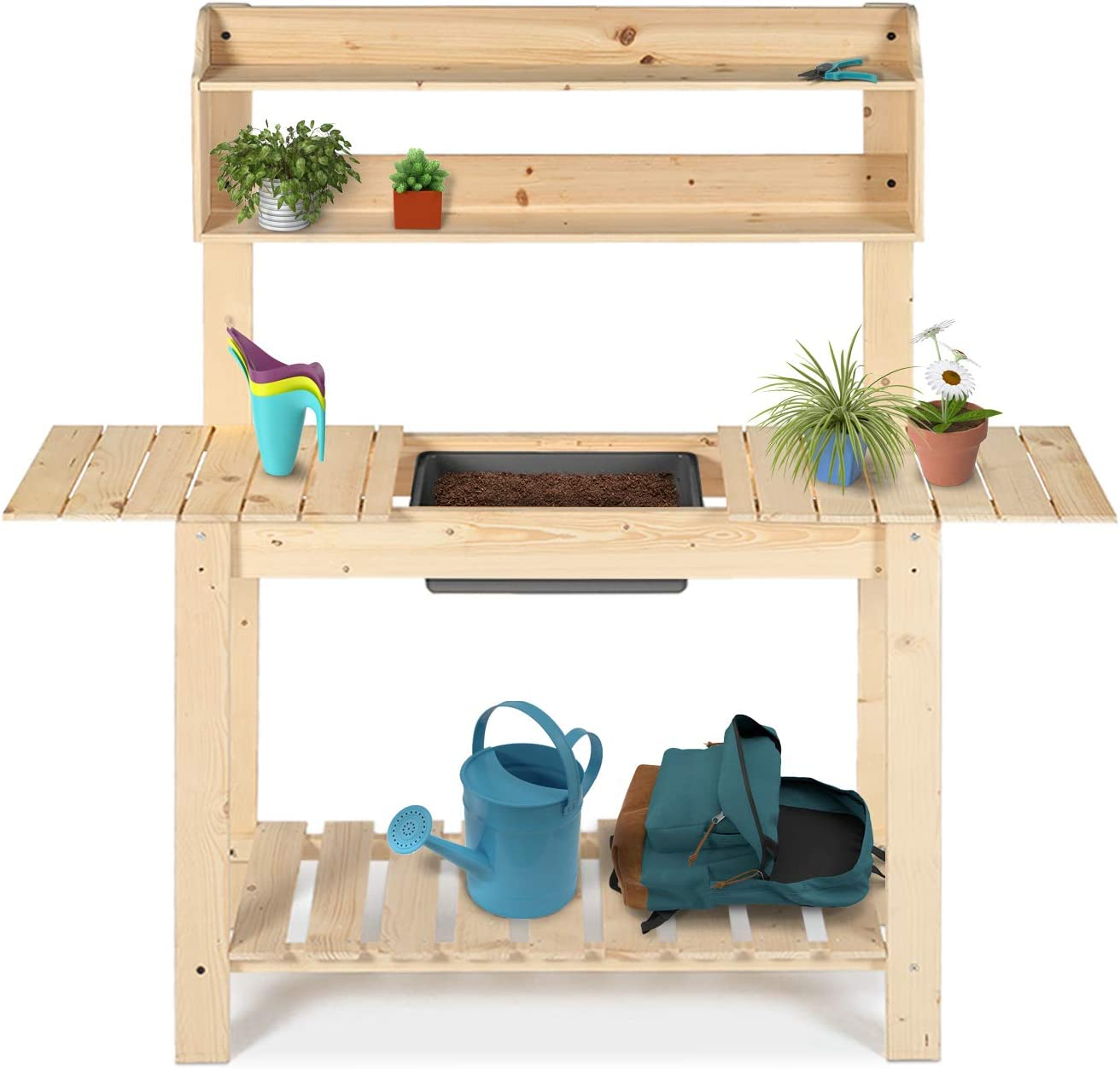 LYNSLIM Natural Wood Garden Potting Bombing Seasonal Wrap Introduction free shipping Bench Table - Outdoor