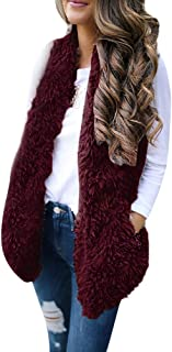 Reooly Miss. Sexy Faux Fur Solid Casual sin Mangas