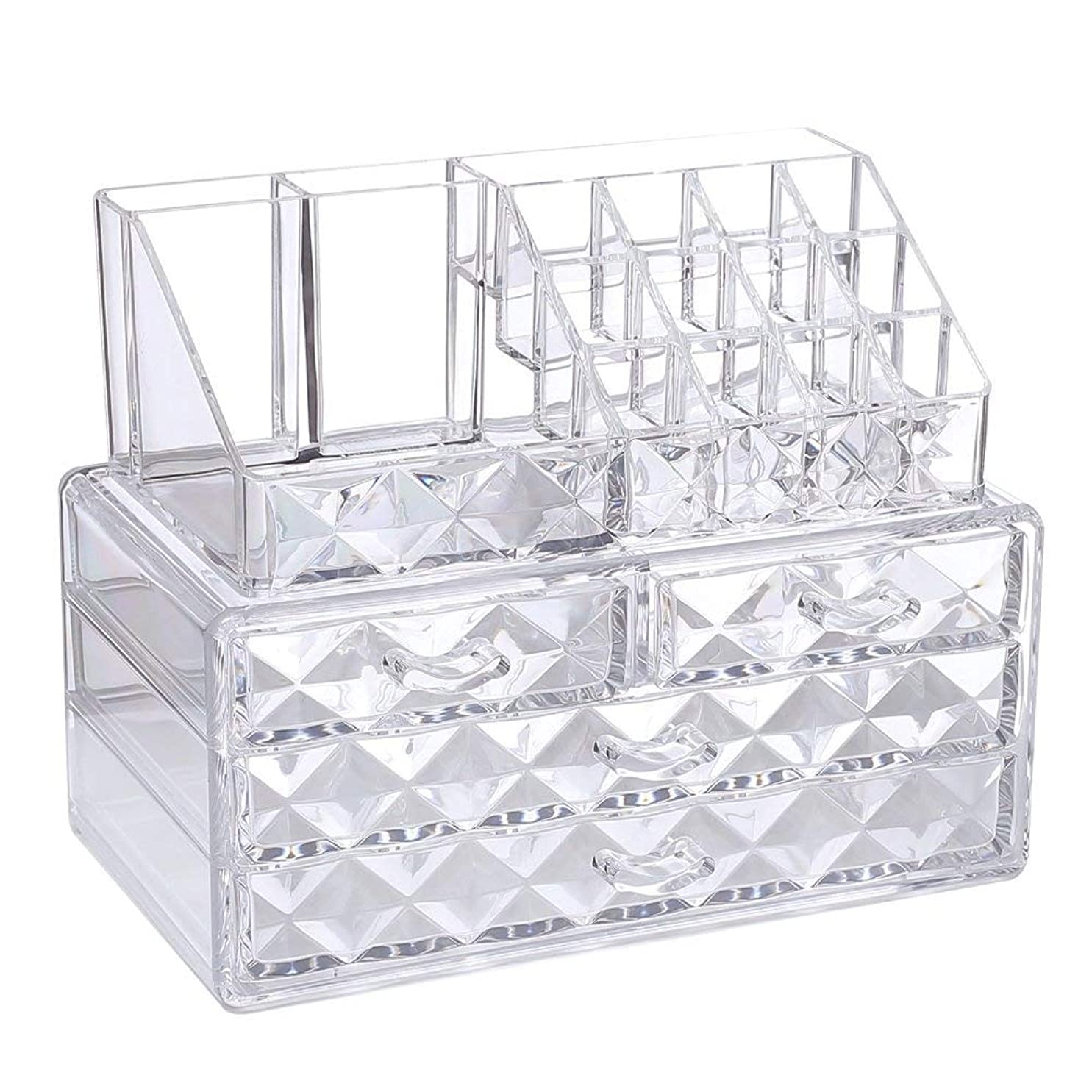 急速な起業家宿泊ジュエリーや化粧品収納ディスプレイボックス4つのボックスの口紅分類小格子は、使用する方が便利です