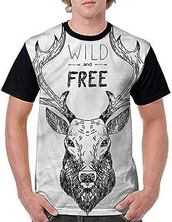 BlountDecor Printed T-Shirt,Romantic Performance Note Fashion Personality Customization
