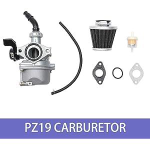 19mm Carburetor Pod Air filter 50cc 70cc 90cc 110cc 125cc Dirt Pit Bike ATV Quad