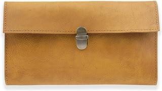 LETEULO Portafoglio da donna in pelle con blocco RFID lungo portafoglio da donna con chiusura