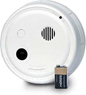 GENTEX Corporation 9123H Interconnected Wall Mount Photoelectric Smoke Alarm, Hardwired with Battery Backup and Isolated Heat Alarm