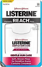 Listerine Gentle Gum Care Interdental Floss for Sensitive Gums, Oral Care, Mint, 50 Yards (Pack of 4)