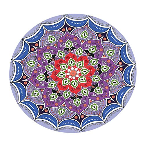 prasku Digital Printed Table Cloth Portector Round Tablecloth 48inch for Party BBQ - Multi, C