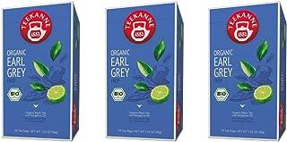 Teekanne Bio Schwarzer Tee - 3er Pack Earl Grey 3 x 20 Beutel, 105 g