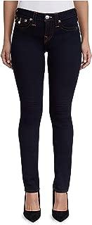 Women's Slim Straight Contour Stretch Jeans w/Flap Pockets in Body Rinse