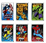 Set of 6 Marvel Super Heroes Refrigerator Magnets Fridge Magnets - 001