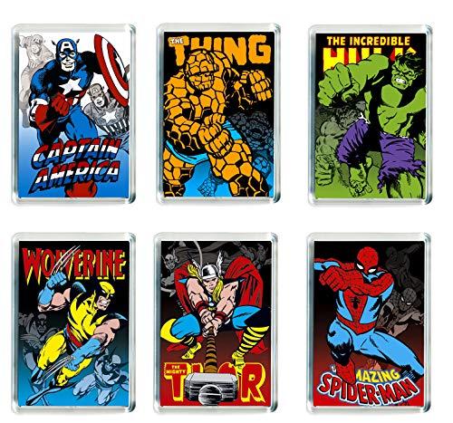 Juego de 6 imanes de nevera Marvel Super Hero – 001