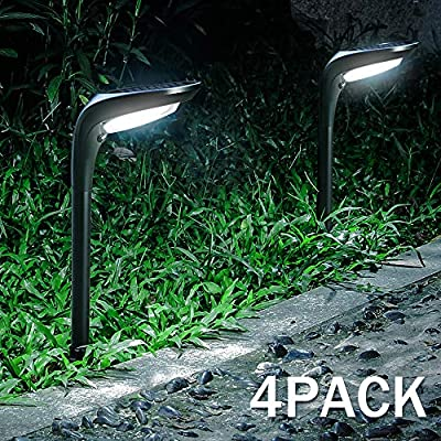 OSORD Outdoor Solar Pathway Lights, Waterproof 2-in-1 Solar Powered Wall Light Landscape Lighting Auto On/Off with 2 Color Modes Solar Lights for Garden Path Yard Patio Walkway Driveway Pool (4 Pack)
